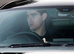 © Licensed to London News Pictures. 17/12/2015. London, UK. Goalkeeper Thibaut Courtois leaves the Chelsea FC training ground after Jose Mourinho was sacked as manager of Chelsea Football Club today (December 17, 2015) Photo credit: Peter Macdiarmid/LNP