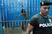 "Police Station of Benjamin Costant.Brasil..The people who live there call the tri-border area between Colombia, Brazil and Perù ""La Frontera"".  This area, in the past rich field for seringueiros (rubber gatherer) and most recently narcos' territory, don't keep trace of the wealth generated here but spent elsewhere. Amazon frontiers areas are notorious for their sparse population and limited state presence."