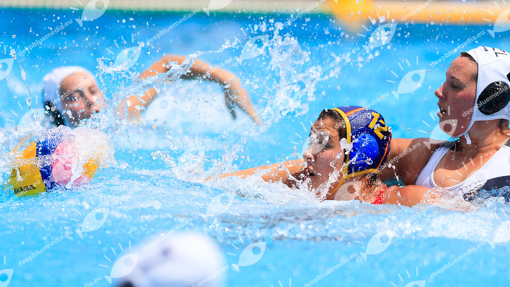 Paula Leiton of Spain<br /> New Zealand (White cap) vs Spain (Blue Cap) Water Polo - Preliminary round<br /> Day 03 16/07/2017 <br /> XVII FINA World Championships Aquatics<br /> Alfred Hajos Complex Margaret Island  <br /> Budapest Hungary July 15th - 30th 2017 <br /> Photo @Marcelterbals/Deepbluemedia/Insidefoto Photo @Marcelterbals/Deepbluemedia/Insidefoto
