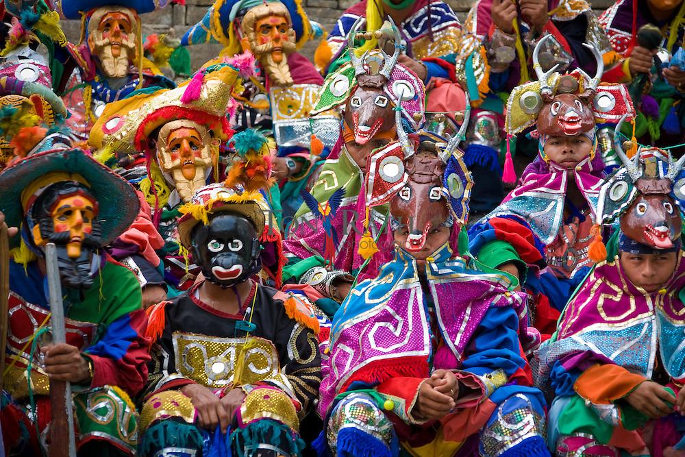 Mayan Deer Dance performed at the Mayan ruin of Lubaantun, Toledo, Belize