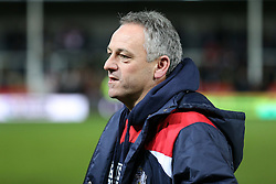 Bristol Rugby Acting Head Coach Mark Tainton looks frustrated after Gloucester Rugby win 26-18 - Rogan Thomson/JMP - 03/12/2016 - RUGBY UNION - Kingsholm Stadium - Gloucester, England - Gloucester Rugby v Bristol Rugby - Aviva Premiership.