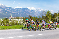 25.04.2018, Innsbruck, AUT, ÖRV Trainingslager, UCI Straßenrad WM 2018, im Bild Mitglieder der Österreichischen Nationalmannschaft vor Schloss Amras // during a Testdrive for the UCI Road World Championships in INNSBRUCK, Austria on 2018/04/25. EXPA Pictures © 2018, PhotoCredit: EXPA/ JFK