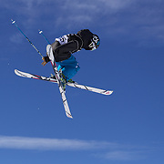 Joss Christensen, USA, in action during his victory in the Freeski Big Air competition at Cardrona, New Zealand during the Winter Games. Wanaka, New Zealand, 20th August 2011. Photo Tim Clayton