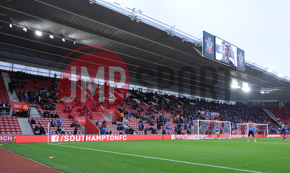 The away stand at St Mary's Stadium awaits the arrival of 5,000 Ipswich Town supporters - Photo mandatory by-line: Paul Knight/JMP - Mobile: 07966 386802 - 04/01/2015 - SPORT - Football - Southampton - St Mary's Stadium - Southampton v Ipswich Town - FA Cup Third Round