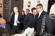 LARRY GAGOSIAN;  REMY TESSIER; JAY JOPLING, Aby Rosen & Samantha Boardman Dinner at Solea,Collins ave,  Miami Beach. 2 December 2010. -DO NOT ARCHIVE-© Copyright Photograph by Dafydd Jones. 248 Clapham Rd. London SW9 0PZ. Tel 0207 820 0771. www.dafjones.com.