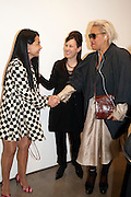 MARY BOONE; MAUREEN PALEY; KAREN BINNS, David Salle private view at the Maureen Paley Gallery. 21 Herlad St. London. E2. <br /> <br />  , -DO NOT ARCHIVE-&copy; Copyright Photograph by Dafydd Jones. 248 Clapham Rd. London SW9 0PZ. Tel 0207 820 0771. www.dafjones.com.