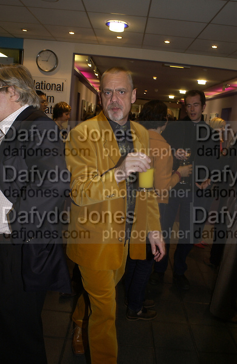 yellow suit: Jim Hamilton, celebration of 100 years of the acting school RADA at the National Film Theatre, on May 9 2004. SUPPLIED FOR ONE-TIME USE ONLY> DO NOT ARCHIVE. © Copyright Photograph by Dafydd Jones 66 Stockwell Park Rd. London SW9 0DA Tel 020 7733 0108 www.dafjones.com