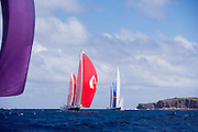 Avalon sailing in the St. Barth's Bucket Regatta, race 1.