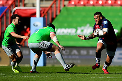 Nathan Hughes of Bristol Bears is challenged by Mark Lambert of Harlequins - Mandatory by-line: Ryan Hiscott/JMP - 08/03/2020 - RUGBY - Ashton Gate - Bristol, England - Bristol Bears v Harlequins - Gallagher Premiership Rugby