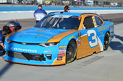 November 10, 2018 - Phoenix, Arizona, U.S. - PHOENIX, AZ - NOVEMBER 10:  Shane Lee (3) CIPT/Race To Give Chevrolet on pit lane for final inspection after qualifying session at the NASCAR Xfinity Series Playoff Race - Whelen 200  on November 10, 2018 at ISM Raceway in Phoenix, AZ.  (Photo by Lyle Setter/Icon Sportswire) (Credit Image: © Lyle Setter/Icon SMI via ZUMA Press)