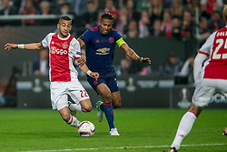 24-05-2017 SWE: Final Europa League AFC Ajax - Manchester United, Stockholm<br /> Finale Europa League tussen Ajax en Manchester United in het Friends Arena te Stockholm / Hakim Ziyech #22 of Ajax, Antonio Valencia&nbsp;(C) #20 of Manchester United