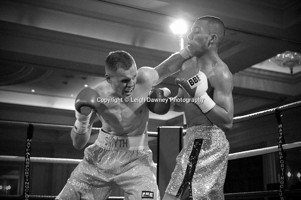 Lee Duncan defeats Joe Smyth at London's Millennium Hotel, Mayfair, 28th January 2010 - Mayfair Sporting Club (Mickey Helliet) Credit: © Leigh Dawney Photography