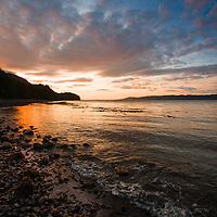 Sunset at Robson Bight, Vancouver Island, BC.