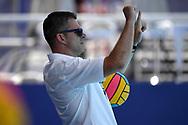 Referee <br /> GRE - NED Greece (white caps) vs. Netherlands (blue caps) <br /> Barcelona 18/07/2018 Piscines Bernat Picornell <br /> Men qualification<br /> 33rd LEN European Water Polo Championships - Barcelona 2018 <br /> Photo Andrea Staccioli/Deepbluemedia/Insidefoto