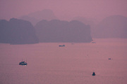 Dawn over Halong Bay.