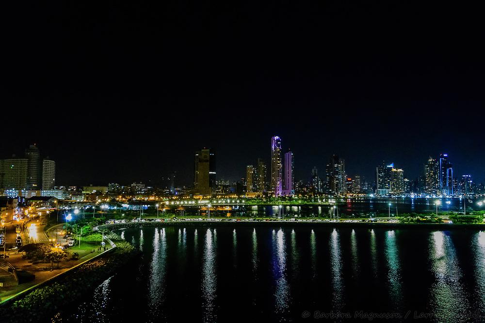 Panama City skyline; from Casco Viejo, old quarter; Panama