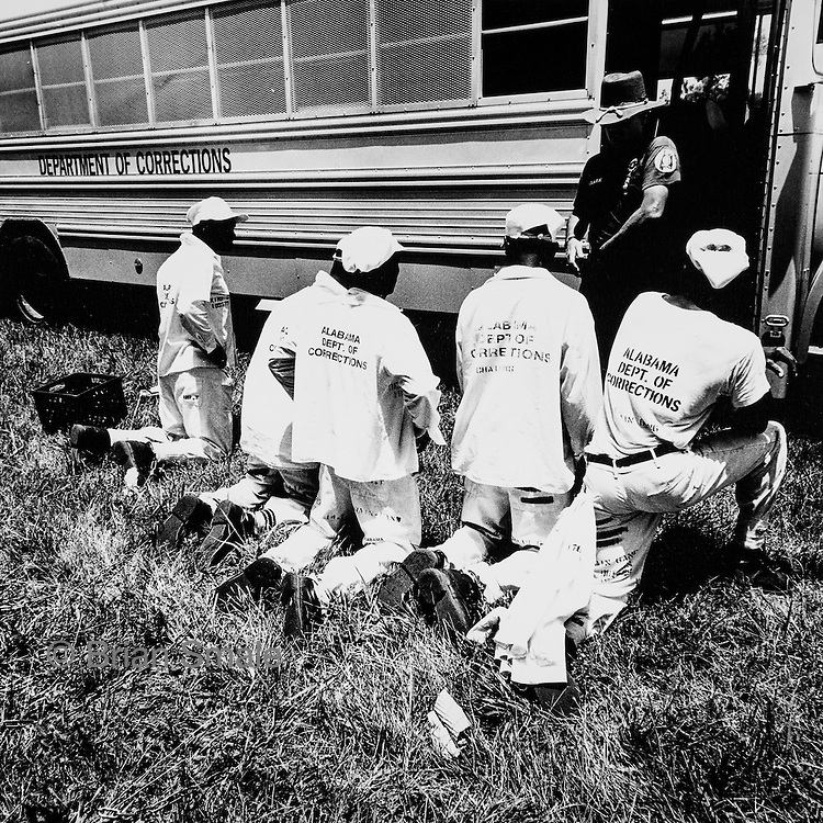 Chaingangs in Alabama, 1995.  Photographed by Brian Smale for Spin Magazine.
