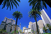 Image of Union Square with palm trees in San Francisco, California, America west coast