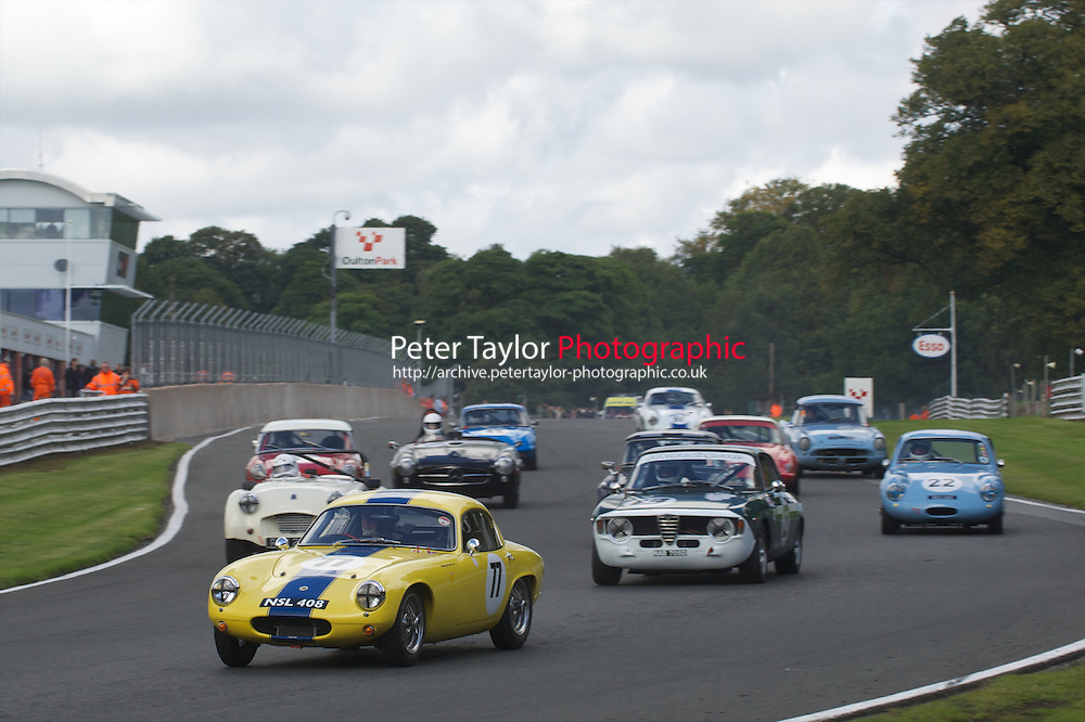 HSCC Gold Cup Oulton Park, Cheshire, United Kingdom.  28th-29th August 2011.  Race 3 HSCC Historic Road Sports. Supported by Moss Europe Ltd. 77 Barry Davison - Lotus Elite. World Copyright: Peter Taylor/PSP. Copy of publication required for printed pictures. Every used picture is fee-liable.