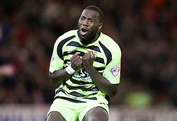 Yeovil Town's Ishmael Miller shows his frustration  - Photo mandatory by-line: Matt Bunn/JMP - Tel: Mobile: 07966 386802 14/12/2013 - SPORT - Football - Barnsley - Oakwell - Barnsley v Yeovil Town - Sky Bet Championship