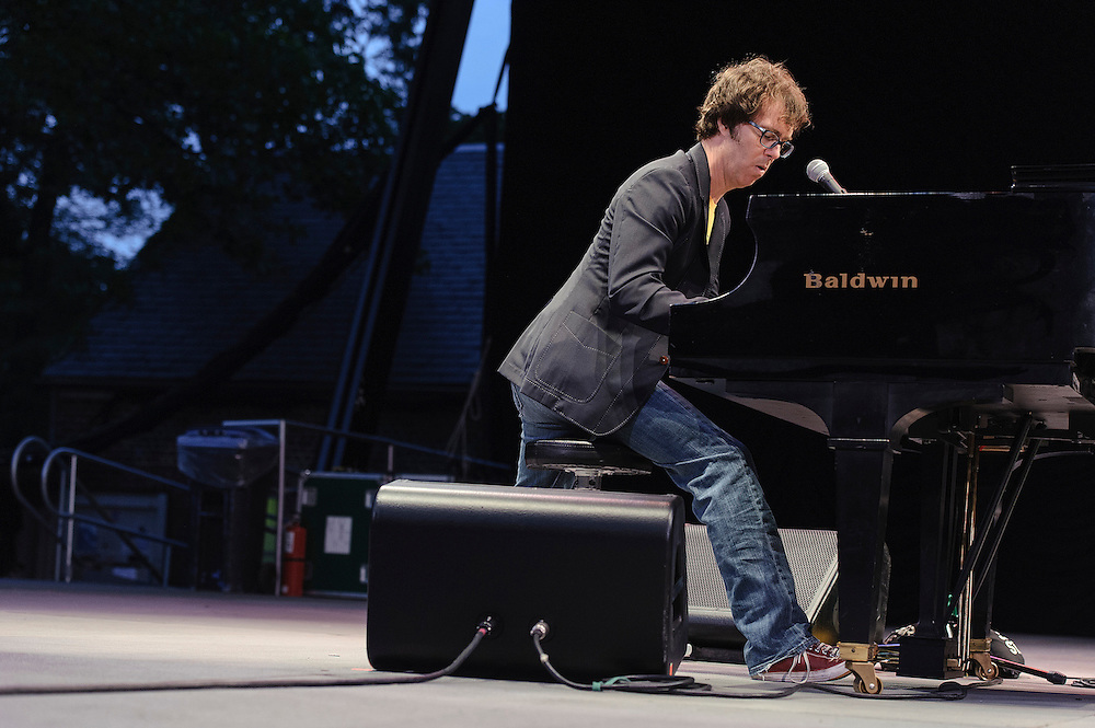Photos of the band Ben Folds Five performing live at Central Park SummerStage, NYC. September 14, 2012. Copyright © 2012 Matthew Eisman. All Rights Reserved.