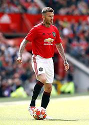 Manchester United Legends David Beckham during the legends match at Old Trafford, Manchester.