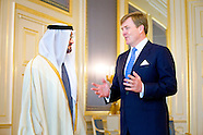 Koning ontmoet Sheikh Mohammed bin Zayed al Nahyan
