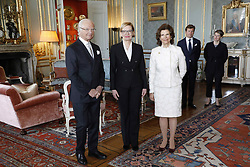April 19, 2018 - Stockholm, Sweden - Queen Silvia, king Carl XVI Gustaf,  Ms Paula Risikko.Audience with Speaker of the Finnish Parliament, Royal Palace, Stockholm, 2018-04-19.(c) Ola Axman / IBL BildbyrÃ¥..Audiens för Finlands talman, Kungliga slottet, Stockholm, 2018-04-19. (Credit Image: © Ola Axman/IBL via ZUMA Press)