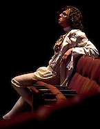 "Colin Kelly, as Amadeus Mozart, waits for the start of a dress rehersal of the play ""Amadeus""  staged November 5, 2008, at Phoenix  Country Day School in Paradise Valley, Arizona."