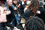 March 28th 2006.Paris, France..For the first time in two months, worker unions join students to protest against the government's controversial youth employment laws, known as CPE.  About a million people are estimated to have demonstrated across France. Because of the frightening acts of violence that happenned during the March 23rd protest, 4000 cops were around the  demonstration in Paris.