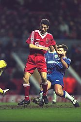 LIVERPOOL, ENGLAND - Saturday, January 6, 1996: Liverpool's Ian Rush in action against Rochdale during the FA Cup 3rd Round match at Anfield. (Photo by David Rawcliffe/Propaganda)