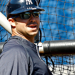 March 05, 2011; Clearwater, FL, USA; New York Yankees right fielder Nick Swisher (33) prior to a spring training game against the Philadelphia Phillies at Bright House Networks Field. Mandatory Credit: Derick E. Hingle-US PRESSWIRE