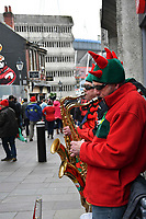 Rugby Union - 2019 Guinness Six Nations Championship - Wales vs. Ireland<br /> <br /> Buskers in the streets of Cardiff prior to the match , at the Principality Stadium (Millennium Stadium).<br /> <br /> COLORSPORT/WINSTON BYNORTH