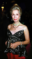 LADY COLIN CAMPBELL at a ball in London on 26th November 1999.MZL 31
