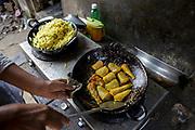Bangladesh, cooking with LPG.