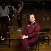 December 16, 2016 - New York, NY : Fordham University Women's Basketball coach Stephanie Gaitley poses for a portrait after practice in the Rose Hill Gymnasium on Friday afternoon. CREDIT: Karsten Moran for The New York Times