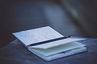 Still life of journal.