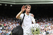 27.06.2011<br /> Andy Murray(GBR)[4]<br /> Gentlemen's Singles - 4th Round<br /> Andy Murray(GBR)[4] vs.Richard Gasquet(FRA)[17]<br /> at at the All England Lawn Tennis and Croquet Club, London<br /> on 27/06/2011