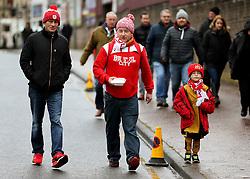 Bristol City fans arrive at Turf Moor  - Mandatory by-line: Matt McNulty/JMP - 28/01/2017 - FOOTBALL - Turf Moor - Burnley, England - Burnley v Bristol City - Emirates FA Cup fourth round