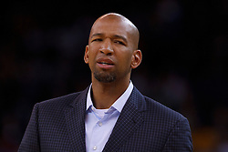 Mar 28, 2012; Oakland, CA, USA;  New Orleans Hornets head coach Monty Williams on the sidelines against the Golden State Warriors during the first quarter at Oracle Arena. Mandatory Credit: Jason O. Watson-US PRESSWIRE