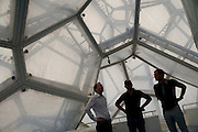 A group from the ASO and UCI inspect a potential press center location inside the Water Cube building in Olympic Park - 2011 Tour of Beijing - Stage 1 Time Trial, Beijing, China