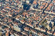 Nederland, Noord-Holland, Alkmaar, 28-10-2016; centrum van Alkmaar, met  Waagplein met Waag, Mient, Vismarkt, Verdronkenoord. Sint Laurentiuskerk.<br /> Alkmaar historical city centre.<br /> luchtfoto (toeslag op standard tarieven);<br /> aerial photo (additional fee required);<br /> copyright foto/photo Siebe Swart