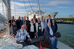 "12-09-2019 NED: Kick-off European Volleyball Men's Championship, Rotterdam<br /> Kick-off for the European Volleyball Men's Championship at the Sailing Ship ""Eendracht"" with The CEV board, municipal officials of the playing cities, Nevobo and Topsport Rotterdam / CEV"