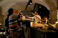 Daniel Rose' restaurant Spring, in Paris.the basement wine bar..Photograph by Owen Franken