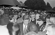 President John F. Kennedy attends a Garden Party at Aras an Uachtarain.  Kennedy meets the people as he is enthusiastically mobbed at the Garden Party..27.06.1963