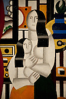 National Gallery, Washington DC. Painting of a woman and child by Pablo Picasso
