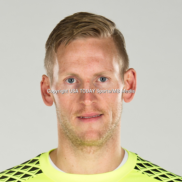 Feb 25, 2016; USA; Vancouver Whitecaps player David Ousted poses for a photo. Mandatory Credit: USA TODAY Sports