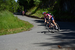 Megan Guarnier (Boels Dolmans) takes on the hairpinned descent of Mortirolo at Giro Rosa 2016 - Stage 5. A 77.5 km road race from Grosio to Tirano, Italy on July 6th 2016.