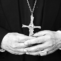 ROME, 8  OCTOBER 2000:the hands of Taiwan's cardinal Shan in Rome. China cut relations with the vatican in the early fifites and since then, established a Patriotic catholic Church that's controlled by Chinese authorities.<br />Catholics who refused to give up their ties with the Vatican, started worshipping in underground churches and consequently were persecuted for a long time. Since the late nineties though, relations with the vatican informally started to improve. Although China still has no diplomatic relations, many representatives from official churches met the pope John Paull II secretely . Since the pope's death on Saturday, thousands of catholics commemorate John Paull II  in special masses throughout China.