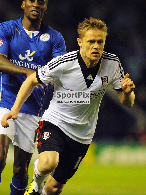 Damien Duff Fulham, Leicester City v Fulham, Capital One Cup, 29th October 2013